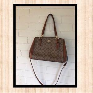 Coach Signature Christie carryall canvas handbags